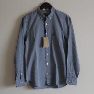 Burberry brit fred button down blue shirt size M
